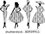 vintage silhouette of girl....
