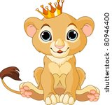 A Cute Character Lion King Cub