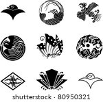 japanese family crests  vector  ...