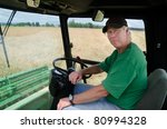 A Serious Farmer Sits In His...