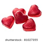 Red Chocolate Hearts Candies O...