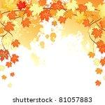 autumn leafs back | Shutterstock . vector #81057883