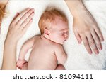 Mother S Hands With Newborn Baby