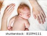 Mother S Hands With Newborn Baby