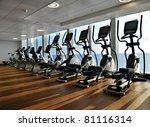 elliptical cross trainer in a... | Shutterstock . vector #81116314