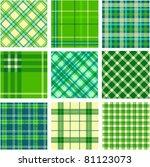 9 plaid patterns set   Shutterstock .eps vector #81123073