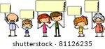 family members are holding... | Shutterstock .eps vector #81126235