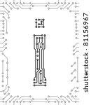 alphabet of printed circuit...   Shutterstock .eps vector #81156967