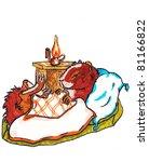 sleeping guinea pig. tale.... | Shutterstock . vector #81166822