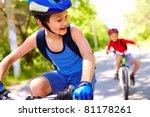 Two Little Boys Riding Bikes...