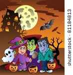 scene with halloween mansion 9  ... | Shutterstock .eps vector #81184813