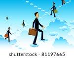 illustration of business man... | Shutterstock .eps vector #81197665