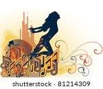 interplay of musical symbols ...   Shutterstock .eps vector #81214309
