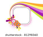 abstract white background with... | Shutterstock .eps vector #81298360
