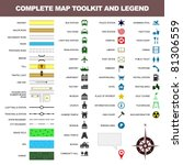 map icon legend symbol sign... | Shutterstock .eps vector #81306559