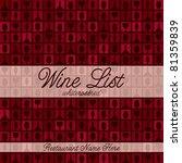 wine glass and bottle modern... | Shutterstock .eps vector #81359839