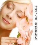 close up beautiful fresh face... | Shutterstock . vector #81424318