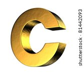 Letter C From Gold Solid...