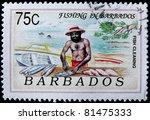 barbados circa 1991  a post... | Shutterstock . vector #81475333