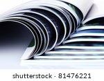 Small photo of many magazines isolated on white