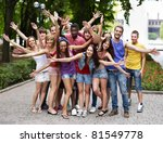 multi ethnic group of people... | Shutterstock . vector #81549778