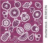 fruit and vegetables pattern... | Shutterstock .eps vector #81585196
