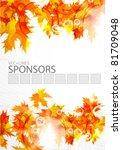 autumn orange leaves. seasonal... | Shutterstock .eps vector #81709048