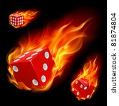Dice In Fire. Illustration On...
