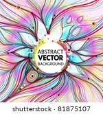 vector abstract background | Shutterstock .eps vector #81875107
