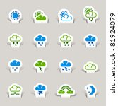 paper cut   weather icons | Shutterstock .eps vector #81924079