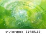 Green Abstract House Plan ...