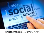 social network and connected... | Shutterstock . vector #81998779