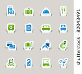 paper cut   hotel icons | Shutterstock .eps vector #82043491