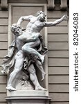 Small photo of Statue of Hercules fighting Antaeus in the Hofburg Quarters, Vienna