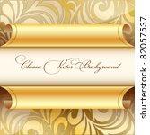 Golden Curled Wallpaper