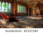 Room And Chair. Abandoned City...