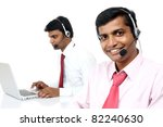 indian young people working in... | Shutterstock . vector #82240630
