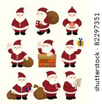 Cartoon Santa Claus Christmas...