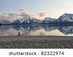 Man At Mountain Lake
