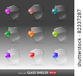 vector set of glass heraldic... | Shutterstock .eps vector #82337287