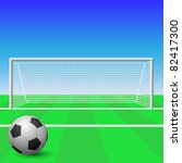 a soccer goal with ball | Shutterstock .eps vector #82417300