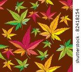 autumn leaf pattern | Shutterstock .eps vector #82418254