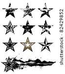 vector grunge stars set. | Shutterstock .eps vector #82429852