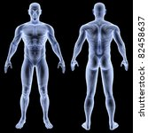 male body under x rays. without ... | Shutterstock . vector #82458637