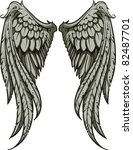 vector wings illustration | Shutterstock .eps vector #82487701