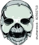 vector skull illustration | Shutterstock .eps vector #82502713