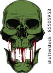 skull vector illustration | Shutterstock .eps vector #82505953