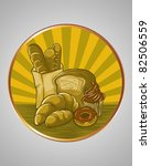 vector illustration   bread set ... | Shutterstock .eps vector #82506559