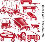 wagon collection | Shutterstock .eps vector #82514068