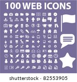 100 web icons  signs  vector... | Shutterstock .eps vector #82553905